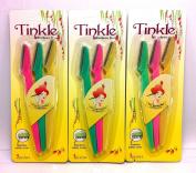 9x Tinkle Eyebrow Razor Trimmer Shaper Pro Shaving Kit 9 Blades Included