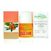 20% Vitamin C Skin Brightening Scrub, Exfoliator & Cleanser with Niacinamide (Vitamin B3), 5% Alpha Arbutin, Licorice, CoQ10, Astaxanthin - For Dull Skin, Wrinkles, Dark Spots - Phytosil 50ml