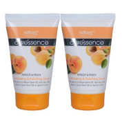 """2 Pack X Natures Essence Caressence Apricot & Peach Scrub 60 Gms --""""Shipping by FedEx"""""""