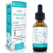 Dr. Straight's 20% Vitamin C Serum + Hyaluronic Acid + MSM + Vitamin E - Pharmacist Formulated