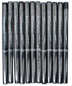 Makeup Cherimoya Retractable Waterproof Lip & Eye Liner Pencil Black Built In Sharpener 12 Pieces