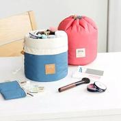 Iebeauty®Korean Pink Blue Collapsible Cosmetic Bag Storage Hamper - Fabric Organiser Cosmetic Holder Bins