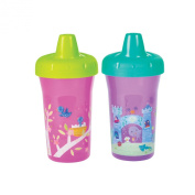 The First Years Simple Sippy Cup - 270ml, 2 pack, Pink and Purple