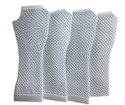 Long Fishnet Gloves Pack of 4 Pairs, White