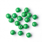 80 pcs Czech Round Glass Picasso Beads 6mm Opaque Green Beads