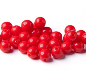 120 pcs Czech Round Glass Beads 4mm Opaque Red Beads