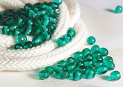 120 pcs Czech Round Glass Beads 4mm Transparent Dark Green Beads
