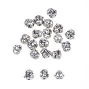 30pcs Buddha Head Beads Antique Silver Spacer for Jewellery Making Premium Jewellery Findings