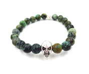 Something Strong Men's 8mm Zinc Alloy African Loose Skull Bracelet