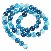 """AAA Natural Blue Stripe Agate Gemstone Loose Round Beads 4mm Spacer Beads For Jewellery Making 15.5"""" (1 strand) 3GSA-4B"""