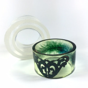 Alamould Moulds Clear Silicone Mould for Tall Plus Sized (3.8cm or 5.1cm ) XL Bangle Bracelet (MB028)