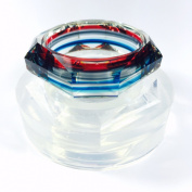 Alamould Moulds Clear Silicone Mould for Smooth Faceted Bangle Bracelet