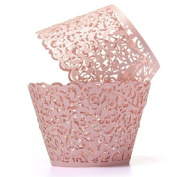Baloray Filigree Little Vine Lace Laser Cut Cupcake Wrapper Liner Baking Cup Muffin Case Trays Wedding Birthday Party Decoration