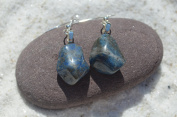Lapis Lazuli Stone Sterling Silver Earrings