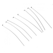HooAMI Stainless Steel Flat Head Pins for Jewellery Making Silver Tone 50mmx0.6mm,100pcs