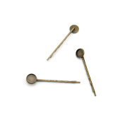 4pcs Jewellery Making Charms Jewellery Charme Antique Bronze Brass Tone Findings Lots Bulk Supply Supplies Repair Vintage Retro L7MB4 Hairpin Clip Cabochon Setting 10M