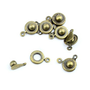510pcs Jewellery Making Charms Jewellery Charme Antique Bronze Tone Fashion Finding for Necklace Bracelet Pendant Crafting Earrings PB086 Snap Fastener