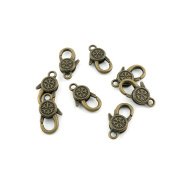 130pcs Jewellery Making Charms Jewellery Charme Antique Brass Tone Fashion Finding for Necklace Bracelet Pendant Earrings Repair DIY O1HG7 Snowflake Buckle Lobster Clasps