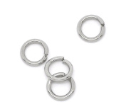 HooAMI Stainless Steel 0.8mm Open Jump Rings for Jewellery Making Findings Silver Tone 5mm, 100pcs