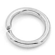 HooAMI Stainless Steel 1.2mm Open Jump Rings for Jewellery Making Findings Silver Tone 8mm, 100pcs