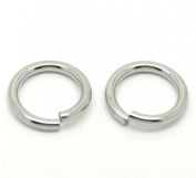 "HooAMI Stainless Steel 2mm Open Jump Rings for Jewellery Making Findings Silver Tone 15mm(5/8""), 10pcs"