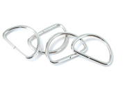 ljdeals Metal D Ring 1.6cm Non Welded Nickel Plated Pack Of 100