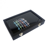 Black Glass Top Jewellery Display Box Case for Bracelet / Necklace / Chain / Watch (Size
