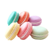 Coolrunner Colourful Mini Macaron Shape Storage Box Candy Jewellery Organiser Pill Case Container Pack of 6 pcs