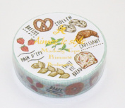 Aimez Le Style Primaute Collection French Boulangerie Masking Deco Tape Standard.