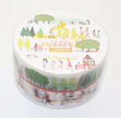 Aimez Le Style Primaute Collection a Promenade Washi Masking Deco Tape Semi-wide.