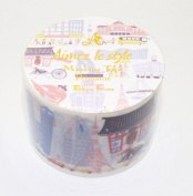 Aimez Le Style Primaute Collection New Design Tokyo Icon Washi Masking Deco Tape Wide.