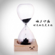 Stuffwholesale Hand-blown Magnetic Hourglass Sand Timer