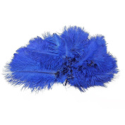 100pcs Beautiful Natural Ostrich Feathers 15-20 Cm / 6-8 Inch Long Home Decor Wedding Party Decoration Hair Decorations Purple