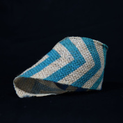 Quasimoon Burlap Fabric Wrap Roll w/ Dark Blue Chevron Pattern (0.7m x 1.8m) by PaperLanternStore