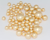 75 Jumbo Pearls Decorative Vase Filler Assorted Sizes for Wedding Centrepiece - GOLD