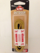 Kiwi 1 Pair Boot Shoe Laces Leather 140cm 6-7 Eyelet Light Brown Tan Outdoor