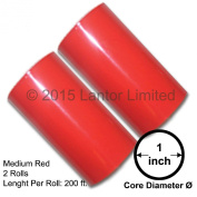 Hot Stamp Foil Stamping Tipper Kingsley 2 Rolls 7.6cm x 60m Medium Red