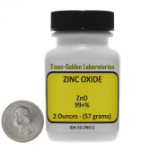 Zinc Oxide [ZnO] 99+% ACS Grade Powder 60ml in a Mini Space-Saver Bottle USA