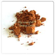 Orange Iron Oxide 1g Sample in Baggy with Pigment Powder Spoon