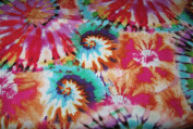 Multi-Coloured Tie-Dyed Fabric - 1 Yard - 100% Cotton