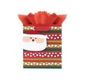 International Greetings Small Gift Bag, Santa and Friends