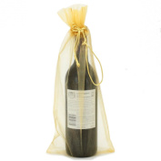20x Wine Organza Fabric Gift Bags Party Bags Large 38cm By 17cm Gold