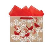 International Greetings Large Vogue Gift Bag, Cardinal Bough