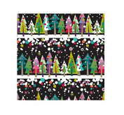 International Greetings Jumbo Roll Gift Wrapping Paper, Tree Line