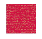International Greetings Jumbo Roll Gift Wrapping Paper, Scripted