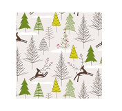 International Greetings Jumbo Roll Wrapping Paper, Prancing Reindeer, 3m Long