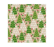 International Greetings Jumbo Roll Wrapping Paper, Yuletide Timbers, 3m Long