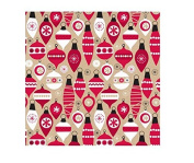 International Greetings Jumbo Roll Wrapping Paper, Cosy Baubles, 3m Long