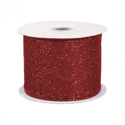 Fabric Glitter Ribbon, 6.4cm x 3 Yard