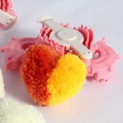 1pc Small Heart Shape Pom Pom Maker Fluff Ball Weaver Cloths Knitting Loom Yarn